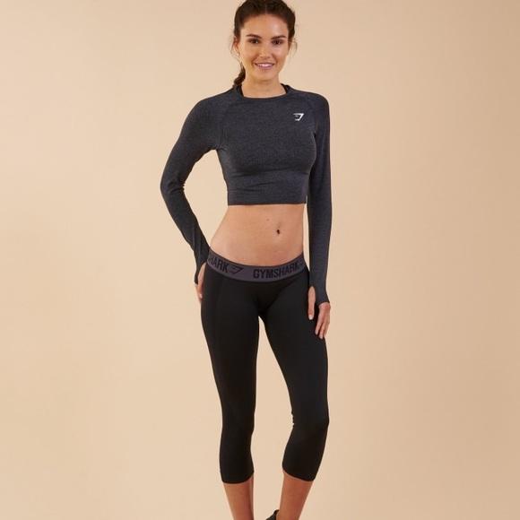 6818a1c4ed7 Gymshark Tops | Nwt Vital Seamless Long Sleeve Crop Top | Poshmark
